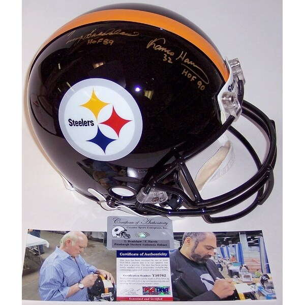 2c81f0bc6 Shop Terry Bradshaw   Franco Harris Autographed Hand Signed Pittsburgh  Steelers Authentic Helmet - PSA DNA - Free Shipping Today - Overstock -  12786135
