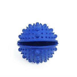 Blue TPR Rubber Spiked Treat Ball Puppy Dog Dental Health Chew Toy