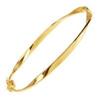 42c98064d5825 Shop Eternity Gold Swirl Tube Hinge Bangle Bracelet in 14K Gold ...