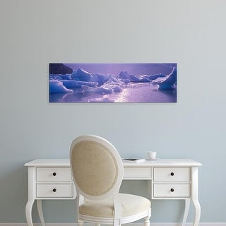 Easy Art Prints Panoramic Images's 'USA, Alaska, Portage Lake, icebergs' Premium Canvas Art