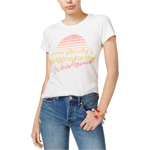 Junk Food Womens Working For The Weekend Graphic T-Shirt