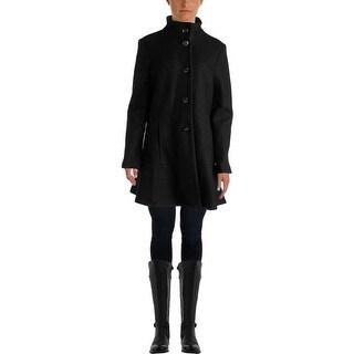 Kensie Womens Wool Blend Skirted Hem Jacket - XL
