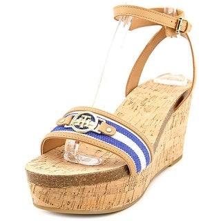 Tommy Hilfiger Hesley Women  Open Toe Synthetic Blue Wedge Heel