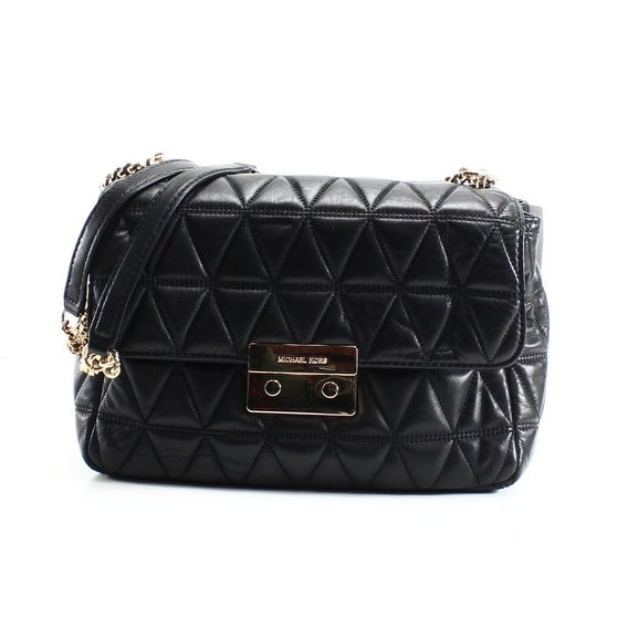 28dcc6a66c4d Shop Michael Kors NEW Black Quilted Leather XL Chain Sloan Shoulder Purse -  Free Shipping Today - Overstock - 19737550
