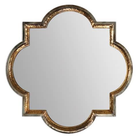 Uttermost 12862 Lourosa Quatrefoil Wall Mirror - Antique Gold