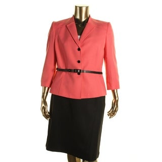 Tahari ASL Womens Tammy Herringbone Two-Tone Skirt Suit - 4