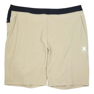 Hurley NEW Beige Men's Size XL Athletic Hybrid Trainer Shorts