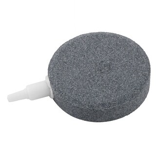 Fish Pond Mineral Bubble Release Airstone Air Stone Diffuser Gray 3mm Inlet Hole