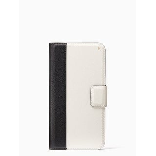 Kate Spade York 'Colorblock' Folio Case for iPhone XR, Black/Cement