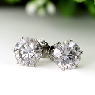 Link to Auriya 2ctw Round Moissanite Stud Earrings 14k Gold - 6.5 mm, Screw-Backs - 6.5 mm, Screw-Backs Similar Items in Earrings