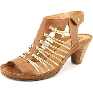 Pikolinos Java Women Open Toe Leather Brown Sandals