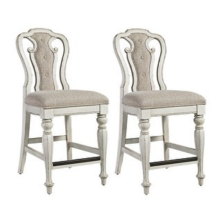 Link to Magnolia Manor Antique White Counter Height Chair (Set of 2) Similar Items in Dining Room & Bar Furniture