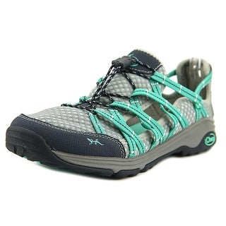 Chaco Outcross Evo Free Women Round Toe Canvas Gray Hiking Shoe