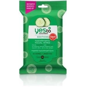 """""""Yes To 3371028 Yes To Cucumbers Hypoallergenic Facial Wipes 10 ct - Travel Size - Facial Wipes - Clean Skin - Hypoallergenic -"""