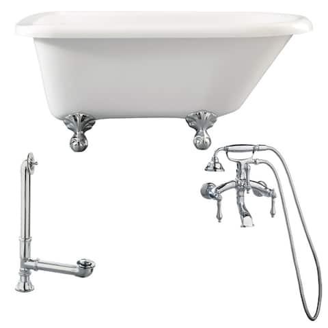 "Giagni LA1 Augusta 54-3/10"" Free Standing Soaking Tub Package -"