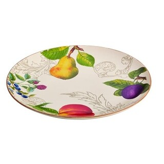 BonJour 59027 Stoneware 12 in. Round Platter