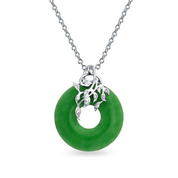jade chinese product bling green watches pendant dyed fortune jewelry necklace sterling silver