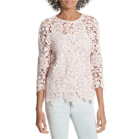 Joie Womens Charnette Lace Pullover Blouse