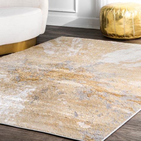 Carbon Loft Brendt Contemporary Modern Abstract Area Rug