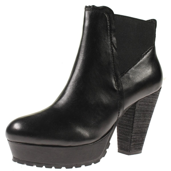 Steve Madden Womens Randaal Ankle Boots Leather Platform