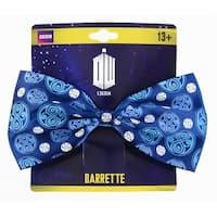 Doctor Who Seal of Rassilon Hair Bow Clip, Dark Blue