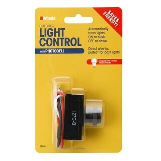 Woods 59408 Outdoor Post Eye Light Control With Photocell