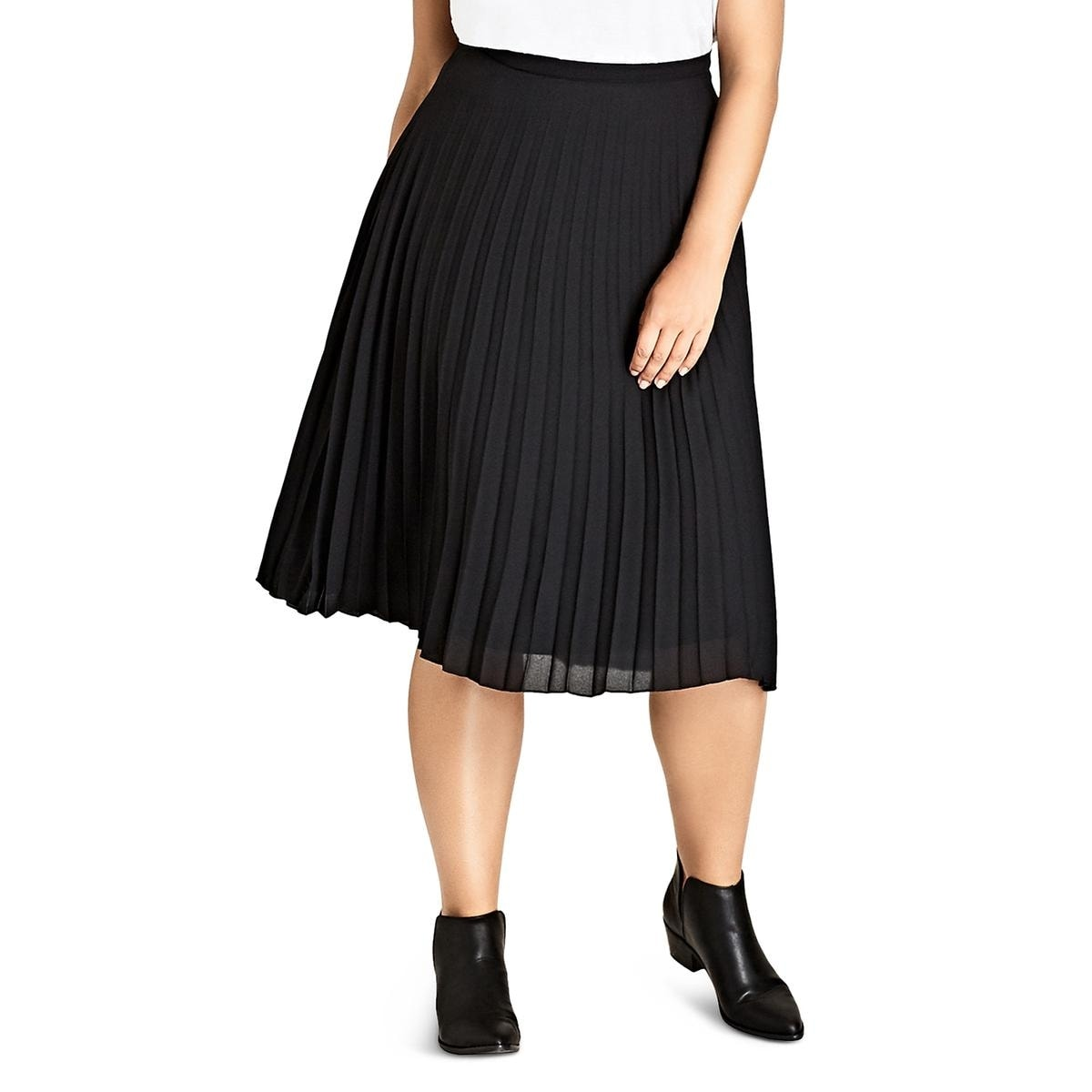 11437b9945 Shop City Chic Womens Midi Skirt Pleated A-Line - Free Shipping On Orders  Over $45 - Overstock - 26437500