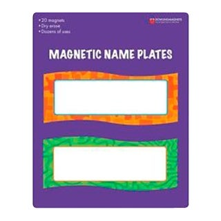 Magnetic Name Plates, 20 pieces