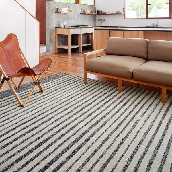 Alexander Home Vail Modern & Contemporary Stripe Area Rug. Opens flyout.