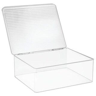 11.3 x 13.3 x 5 in. Clear Kitchen Binz Stackable Storage Box with
