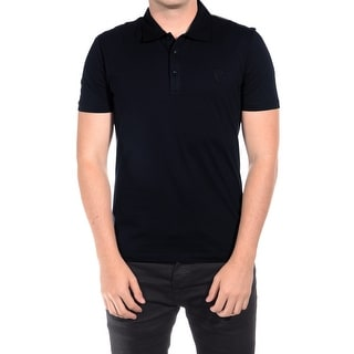 Versace Collection Men's Cotton Medusa Polo Navy