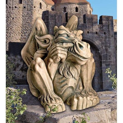 Giant Feast On Fools Gargoyle Statue Nr