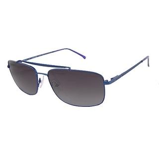 Lacoste L133S 424 Satin Blue Sunglasses 100% UVA/UVB Protection