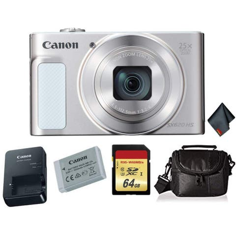 Canon PowerShot SX620 HS Digital Camera (Silver) Bundle +2X 32GB