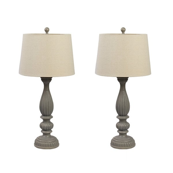 Set of 2 Clifford Resin Table Lamps. Opens flyout.