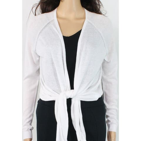 Lauren by Ralph Lauren Womens White Size Medium M Nalani Long Cardigan
