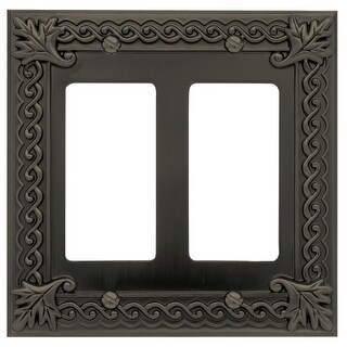 Atlas Homewares VDR Venetian Double Rocker Switch Plate