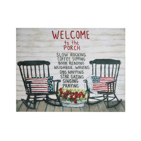 """Welcome to the Porch"" Tin Wall Decor - 23.5"" x 18"""