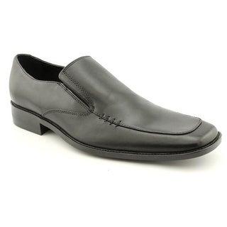Steve Madden Klak Men Square Toe Leather Black Loafer