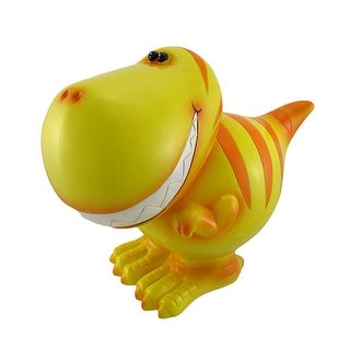 Children`s Jumbo Yellow T-Rex Dinosaur Coin Bank