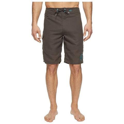 O'Neill Men's Santa Cruz Solid 2.0 Boardshorts Asphalt Swimsuit Bottom SZ: 34