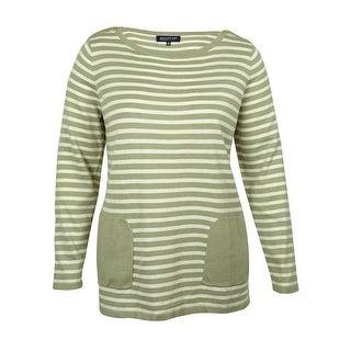 Jones New York Women's Striped Tunic Sweater