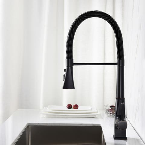 Tim Kitchen Faucet with Pull Down Sprayer - 10.03 inches x 21.06 inches