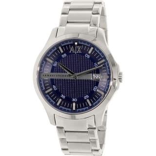 Armani Exchange Men's AX2132 Silver Stainless-Steel Quartz Dress Watch|https://ak1.ostkcdn.com/images/products/is/images/direct/ad076a34e8fe9b0ee198715ea8b47669e4fc0659/Armani-Exchange-Men%27s-AX2132-Silver-Stainless-Steel-Quartz-Dress-Watch.jpg?impolicy=medium