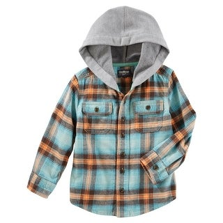 OshKosh B'gosh Little Boys' Flannel Pullover, 2-Toddler