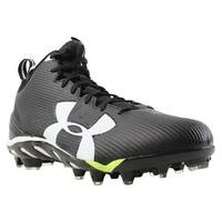 8f0a0899bee5 Under Armour Mens Ua Spine Fierce Mc Black Cleats Shoes Size 11 New