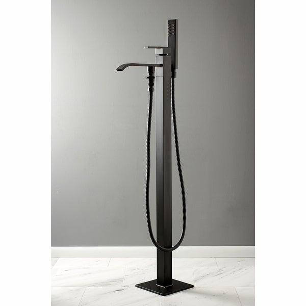 Executive Freestanding Tub Faucet with Hand Shower. Opens flyout.