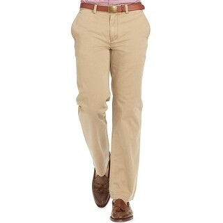 Polo Ralph Lauren Mens Classic Fit Flat Front Chinos Pants Khaki 40 x 32