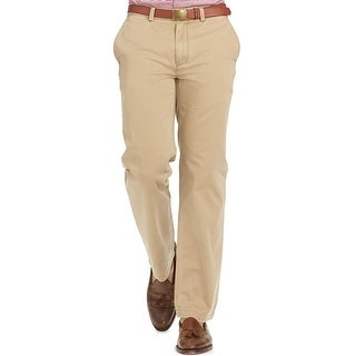 Polo Ralph Lauren RL Classic Fit Flat Front Chinos Pants Beige 36W x 32L - 36