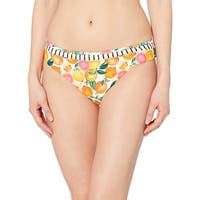 Nanette Lepore Women's Swimwear White Size 14 Bikini Bottom Orange Printed